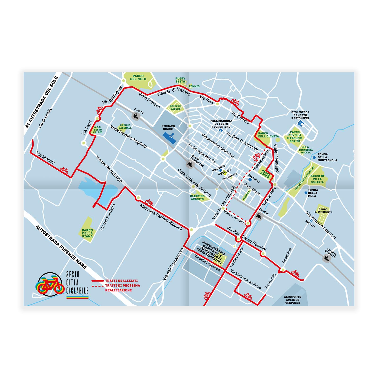 Mappa ciclabile – Comune di Sesto Fiorentino